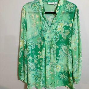 Susan Graver Sheer Green Tunic